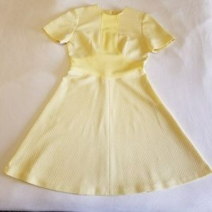 Vintage Lemon Yellow Dress
